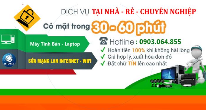 Sửa mạng internet tại nhà quận tân phú - Sửa mất mạng wifi